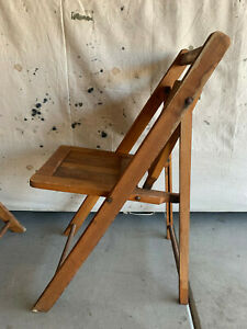 "Vintage Heywood Wakefield Wood Folding Chair Deck Chair Antique ""1 ONLY"""