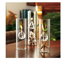 Clear Cylinder Glass Oil Lamp Reading Room Tabletop Kerosene Burner 15cm