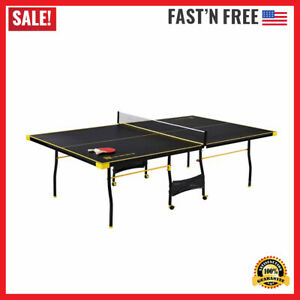 Official Size Tennis Ping Pong Indoor Foldable Table, Paddles and Balls Included