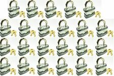 Lock Set by Master 3KA (Lot 23) KEYED ALIKE Commercial Steel Laminated Padlocks