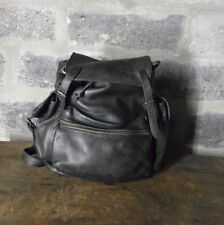 vtg ELLINGTON black baseball glove leather rucksack festival bag backpack