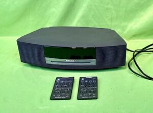 Nice Bose Wave Music System AWRCC1 Radio AM/FM CD Player Alarm Gray w/ 2 Remotes