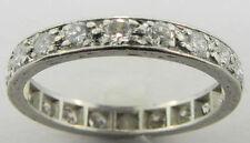 LADIES VINTAGE PLATINUM DIAMOND ETERNITY WEDDING BAND RING SIZE 5 3/4