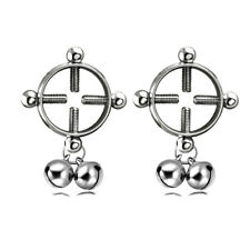 Hot Bell Non Pierced Clip-On Nipple Ring Nipple Body Jewelry Adult Fake Piercing