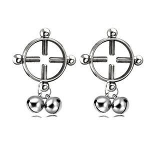 Sexy Charm Surgical Steel Non Piercing Clip On Adult Design Nipple Ring Shield