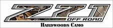 Z71 Decal Chevy GMC Hardwoods Camo 4x4 Sierra 1500 2500 3500