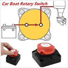Car RV Marine Boat Battery Selector Isolator Disconnect Rotary Switch 600A
