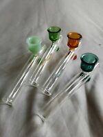 Glass Steamroller Tobacco Pipe One Hitter Chillum Glass Bong Water Smoking Pipe