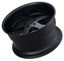 """Xxr 968 18"""" x 10.5J ET20 5x114.3 plat noir 4.25 pouces lip-lot de 4 roues"""