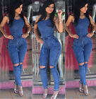 Women Summer Sleeveless Bodycon Dress Playsuit Jumpsuit Romper Trousers Clubwear