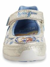 Disney Frozen Anna And Elsa Silver White Light Up Toddler Girls Shoes Sz 7