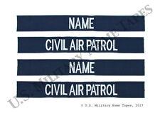 2 Civil Air Patrol Corporate Working Uniform Name Tape & Service Tape Sets