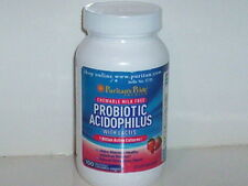 PROBIOTIC ACIDOPHILUS 1 BILLION ACTIVE CULTURES 100 CHEWABLE STRAWBERRY WAFERS
