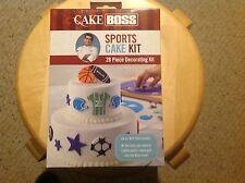 New Cake Boss 28 Piece Sports Cake Decorating Kit
