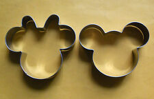 Mickey & Minnie Mouse Cookie Cutter Party Fondant Pastry Biscuit Steel Mold Set