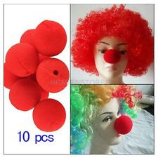 10Pcs Party Favor CARNIVAL CIRCUS Big Top RED CLOWN NOSES Soft Sponge Nose New