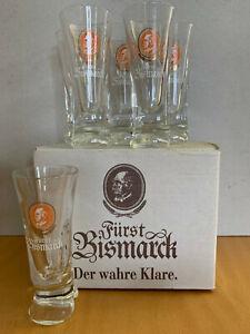 6 x Fürst Bismarck Shot Glas Gläser von Böckling KULT