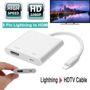 8Pin Lightning to HDMI HDTV TV Adapter Digital AV Cable 1080P for iPhone X iPad