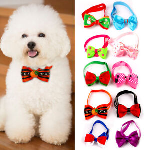 10/20/50 pcs Cute Pet Dog Cat Bow Tie Collars Kitten Puppy Necklace Accessories