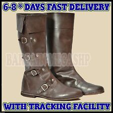Christmas Presents Medieval Leather Boots Re-enactment Mens Shoe  UK Size 10