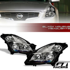 FOR 2007-2009 NISSAN ALTIMA SEDAN BLACK CLEAR HOUSING HEADLIGHTS SIGNAL LAMPS NB