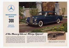 Mercedes-Benz 300 Hardtop Automatic 1960 depliant epoca originale brochure