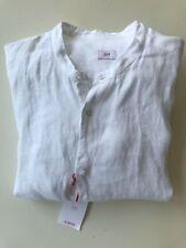 Sirio Italy Leinen Hemd Gr. L Weiß Rundkragen, sehr edel!!