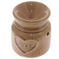 """LOVE"" Brown Wax Warmer/Burner & 10 Handpoured Scented Melts"
