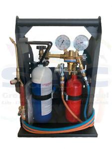 Hartlötgerät Satz  m. gefüllter Sauerstoff-/Propanflasche