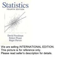 (LAST COPY)Statistics by David Freedman 4th ed (PR, HI, AK shipping )