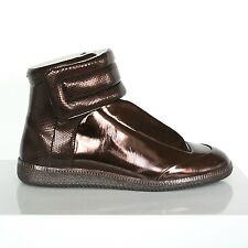 MAISON MARTIN MARGIELA metallic bronze shoes hi-top Future sneakers 42 / 9 NEW