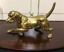 More details for antique french gilt bronze fieldtrials,gundog game dog pointer,vizsla,weimaraner