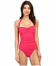 f1540a277e5ab Tommy Bahama Pearl Solid Azalea V Front Slimming One Piece Swimsuit 10