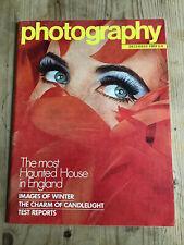 Vintage Photography magazine rare Dec 1969 haunted Borley Rectory nudes