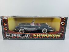 Motorworks 1/18 - 1958 Chevy Corvette Convertible Black Diecast Metal Car #73100