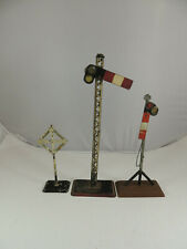 PRE-WAR O/STANDARD GAUGE TOY TRAIN SIGNAL GROUP MADE IN GERMANY