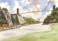 John A. Case - 20th Century Watercolour, Scenes From Bristol