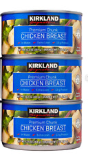 3-COUNT CANS KIRKLAND SIGNATURE CHUNK CHICKEN BREAST IN WATER 12.5 OZ EACH