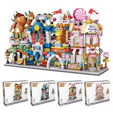4Set Bausteine Straße Shop Spielserien Geschenk Dekoration OVP LOZ1641-1644