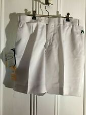 FABULOUS HENSELITE BOWLS SHORTS WHITE SIZE 77 NEW