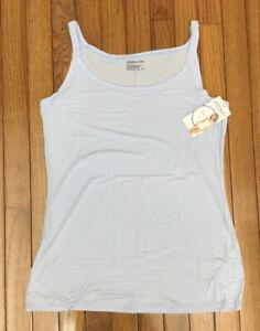 New Jockey Women's Baby Blue Soft and Comfy Cami Top Tank T-shirt Stretch Sz XL