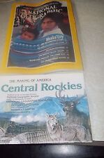 National Geographic August 1984~Mexico City+Map Making of America/Central Rockie