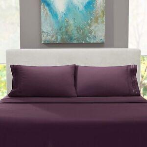 TasteLife 105 GSM 1800 Bed Sheet Set Brushed Hypoallergenic Microfiber CAL KING