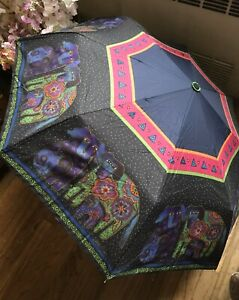 Laurel Burch Dogs Colorful Unbrella Snap/Open With Sleeve NEW!