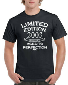 18th Birthday Gifts Year 2003 18 Years Old Present Mens T Shirt Limited Edition
