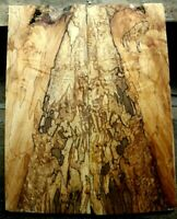 "Gorgeous curly spalted ambrosia maple top .35"" thk guitar bass tele strat 1089"