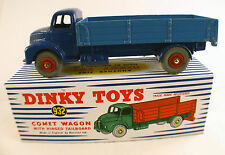 Dinky Toys Gb n° 532  LEYLAND COMET Plateau ridelles repeint boîte reproduction