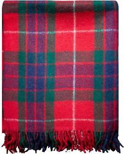 Tweed Sofa Throw Blanket Fraser Red Tartan Plaid Outdoor Picnic Blanket