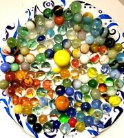 Vintage Lot 140 Marbles Various Sizes and Colors (Bag 3B)