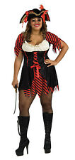 PIRATE BUCCANEER HALLOWEEN COSTUME WOMEN'S PLUS SIZE (FITS DRESS SIZE14-16)